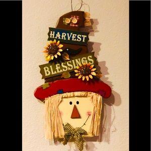 Wooden Scarecrow Fall hanger🍁